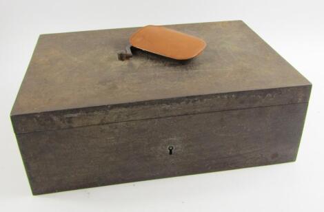 An Edwardian cast iron box safe