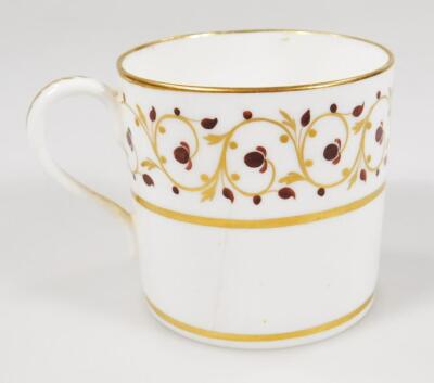 Four early 19thC Derby porcelain coffee cans and saucers - 6