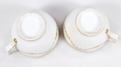 An early 19thC part French porcelain tea set - 4