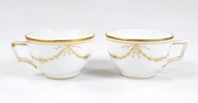 An early 19thC part French porcelain tea set - 7