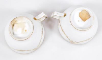 An early 19thC part French porcelain tea set - 9