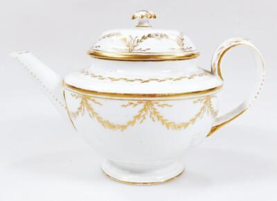 An early 19thC part French porcelain tea set - 11