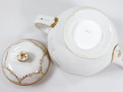 An early 19thC part French porcelain tea set - 13