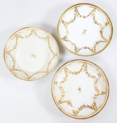 An early 19thC part French porcelain tea set - 14