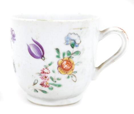 An 18thC Chinese export porcelain coffee cup