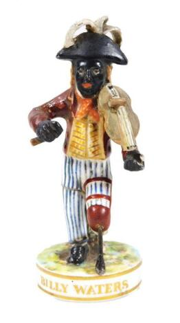 A late 19thC King Street Derby Theatrical figure of Billy Waters