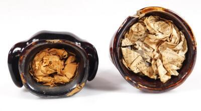 A 19thC porcelain greyhound stirrup cup - 6