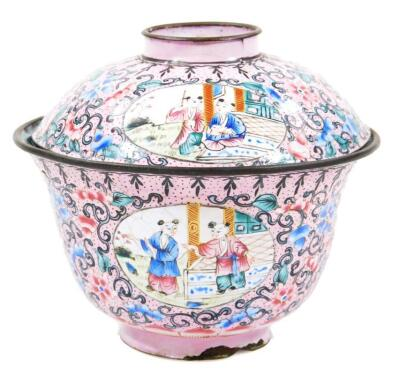 A 19thC cloisonne tea bowl and cover