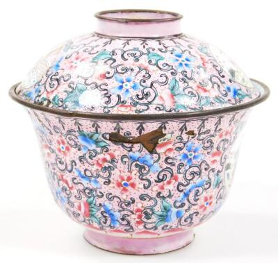 A 19thC cloisonne tea bowl and cover - 4