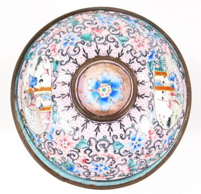 A 19thC cloisonne tea bowl and cover - 5