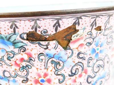 A 19thC cloisonne tea bowl and cover - 8