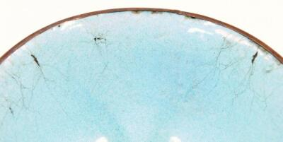 A 19thC cloisonne tea bowl and cover - 9