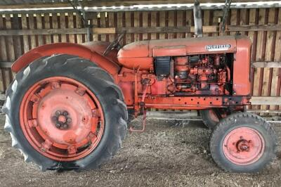A Nuffield vintage tractor.
