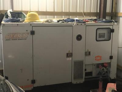 A Genpac Power Master GQ50P diesel generator.
