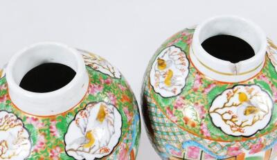 A pair of 19thC Chinese baluster vases and covers - 5