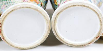 A pair of 19thC Chinese baluster vases and covers - 6