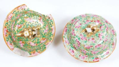 A pair of 19thC Chinese baluster vases and covers - 7