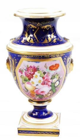 A 19thC Derby porcelain vase