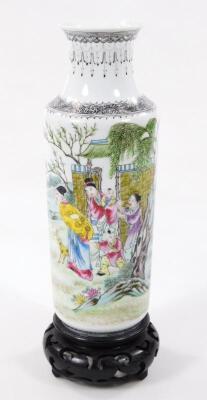 A Chinese Republic porcelain vase - 18