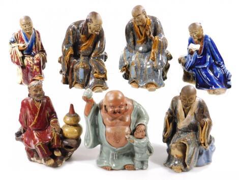 A Chinese Ming style terracotta pottery figure of Buddha