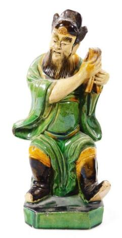 A Chinese T'ang style terracotta pottery figure
