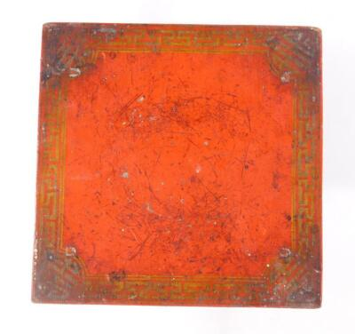 A 19thC red lacquer box - 3