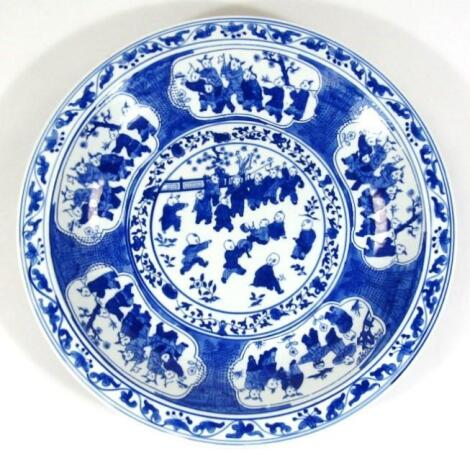A Chinese blue and white charger