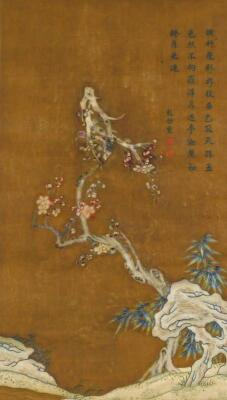 19thC Oriental School. Trees and flowering buds - 2