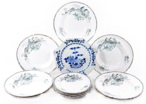 A 18thC Chinese export blue and white plate