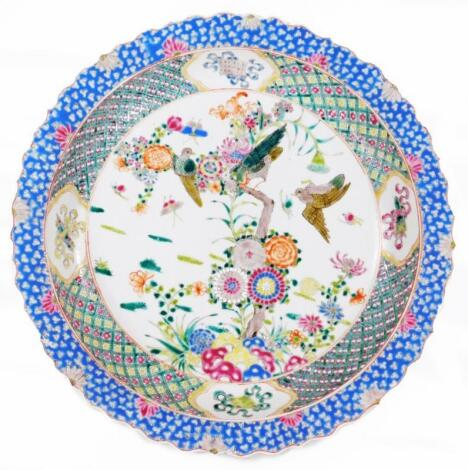 A Chinese Qing period porcelain charger