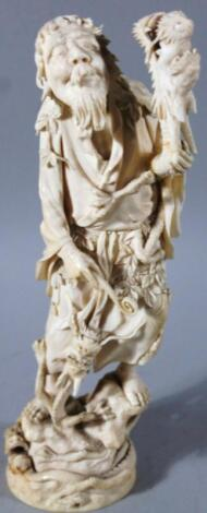 A late 19thC Japanese Meiji period ivory figure