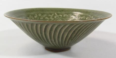 A Chinese Ming style celadon bowl