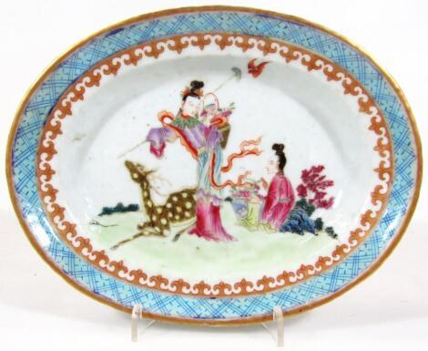 A 19thC Cantonese porcelain dish