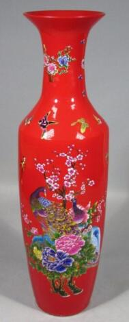 A 20thC oriental pottery floor standing vase