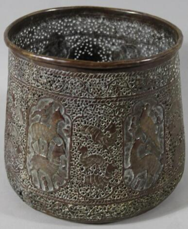 A cast metal Islamic mosque lantern