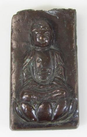 A cast metal plaque