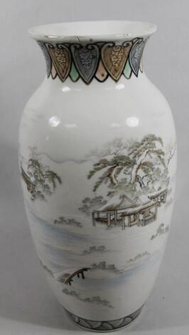 A Meiji period Japanese porcelain vase