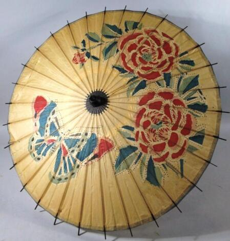 An early 20thC Chinese parasol