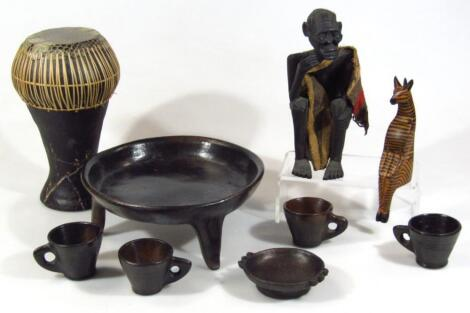 Various African and other tribal figures groups