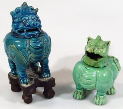 A Chinese pottery pot pourri vase