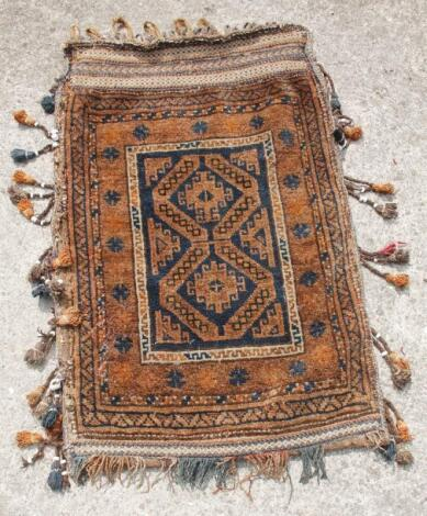 A 20thC Middle Eastern tribal style sack rug or wall hanging