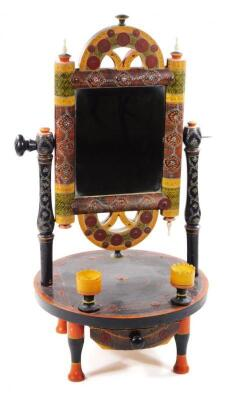 An early 20thC Persian table mirror