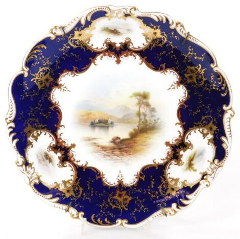 An early 20thC Coalport cabinet plate