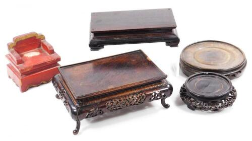 Various Chinese hardwood stands