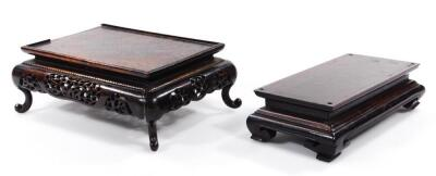 Various Chinese hardwood stands - 4