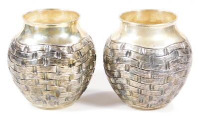 A pair of vases