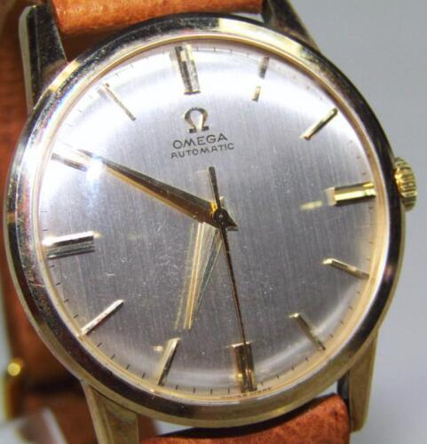 A mid-20thC gentleman's Omega automatic 9ct gold cased wristwatch