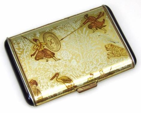 An early to mid-20thC Japanese cigarette case
