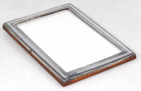 A George V silver photograph frame