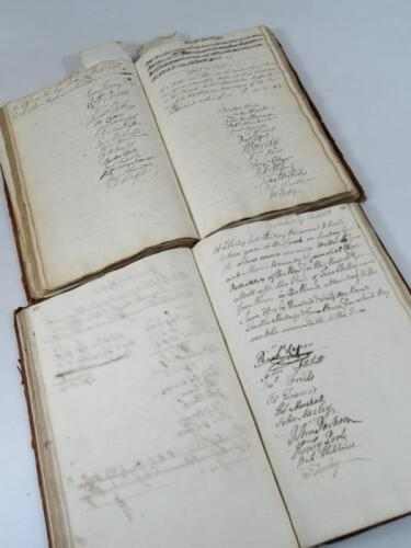 Gainsborough.- ACCOUNT BOOKS FOR THE PARISH OF LAUGHTON OVERSEERS OF THE POOR 2 ms books containing